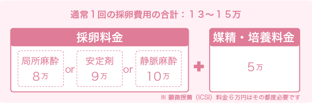 1回採卵通常料金-採卵プーリング法 - 名古屋不妊治療山口レディスクリニック