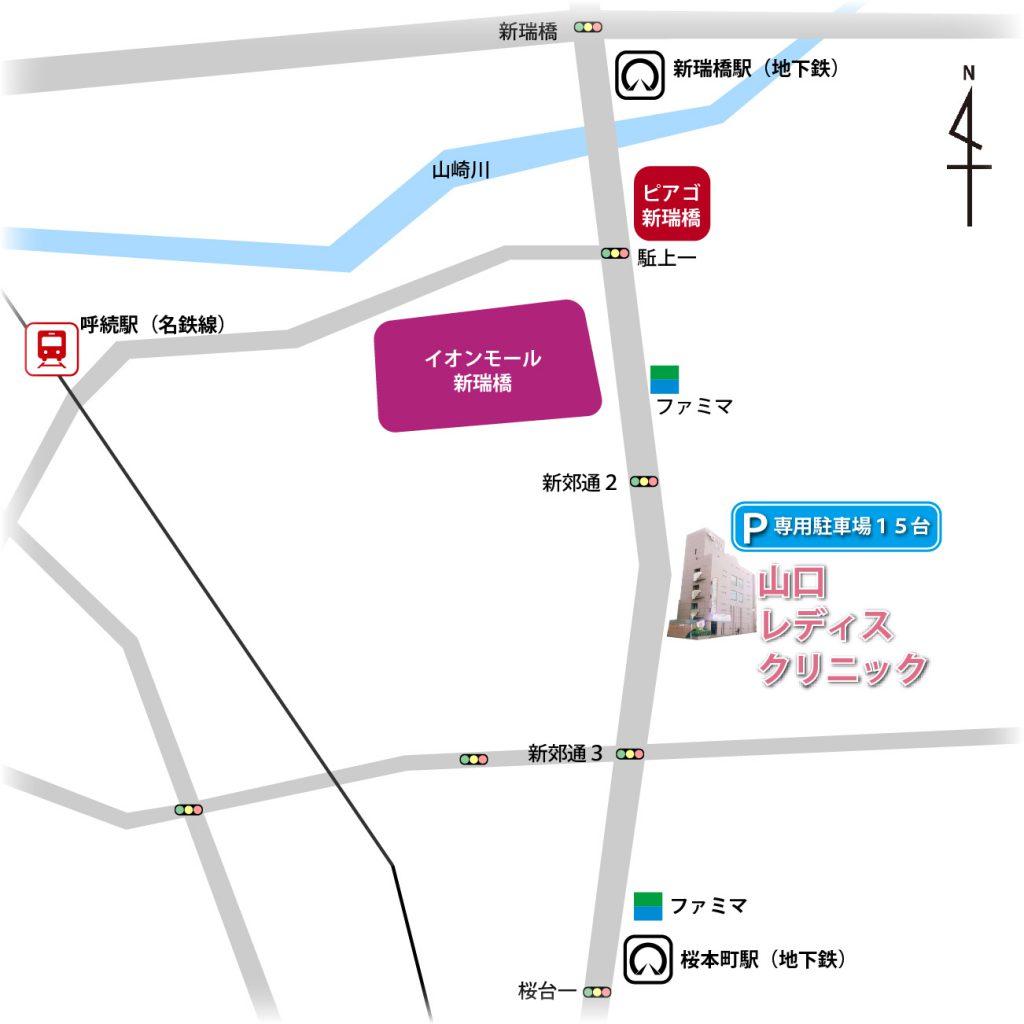 名古屋市南区山口レディスクリニック-簡略周辺地図